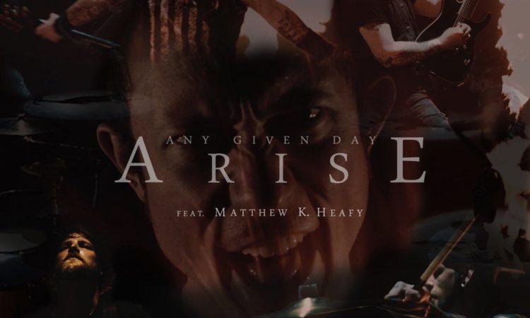 Any Given Day, il video di 'Arise' con Matt Heafy dei Trivium