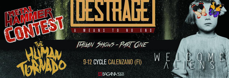 Contest, vinci 2 biglietti per il concerto dei Destrage a Firenze