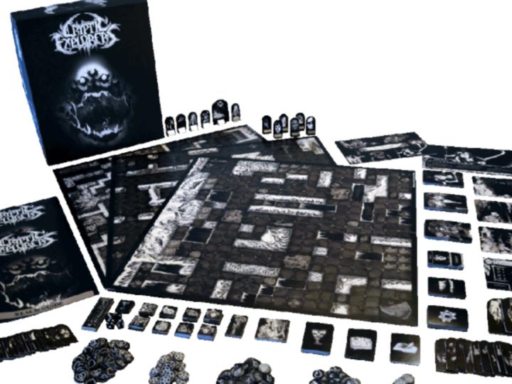 Cryptic Explorers, campagna di Kickstarter per il gioco da tavolo death metal