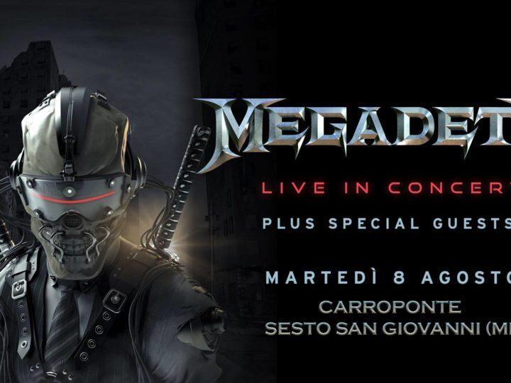 Megadeth live @ CarroPonte, Sesto San Giovanni (MI)