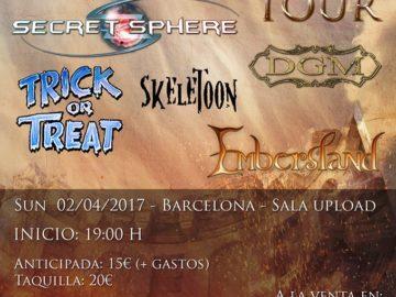 TRIUMVIRATE TOUR DIARY (Secret Sphere + DGM + Trick Or Treat+ Skeletoon) @ Paris, Zaragoza, Madrid, Barcelona, Puget Sur Agnes, Lenzburg, Vercelli – 27 marzo / 4 aprile
