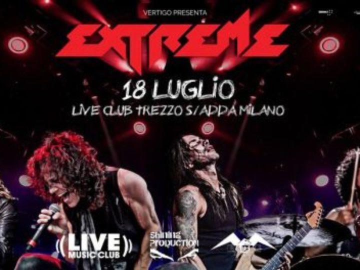 Extreme, una tappa live a Milano a luglio