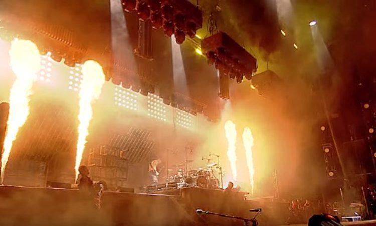 Rammstein, l'esecuzione di 'Sonne' al Rock Im Ring