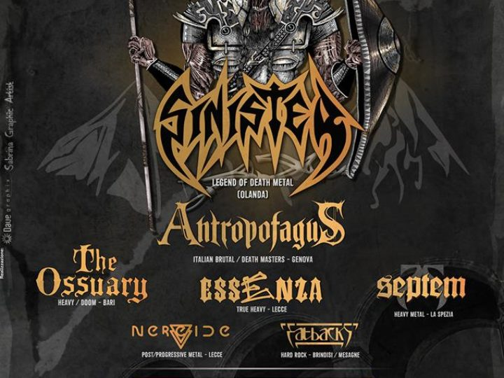 Sinister + Antropofagus + The Ossuary + Essenza + guest live @ Breaking Sound III, Mesagne (BR)