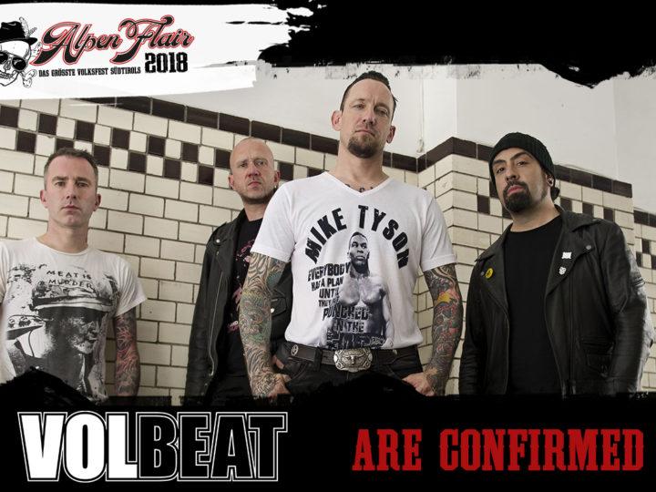 Alpen Flair 2018, annunciati i Volbeat