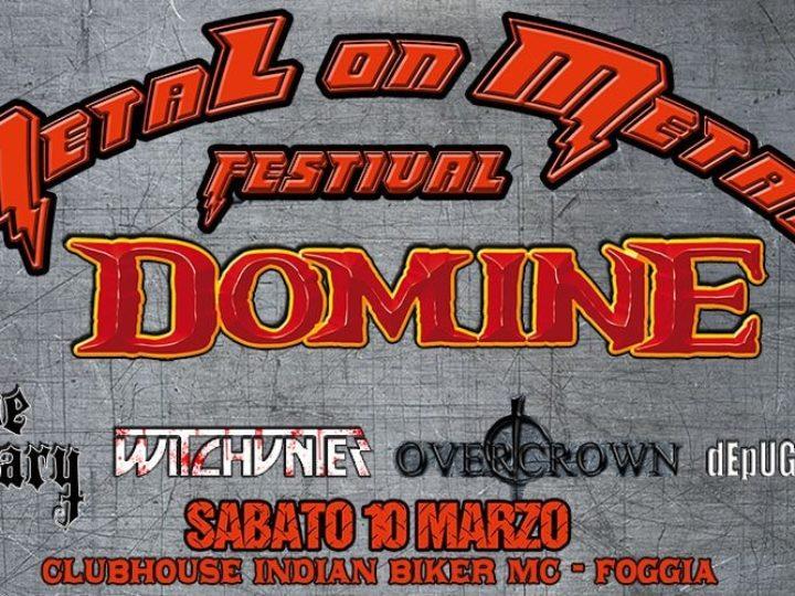 Metal on Metal Festival, la prima edizione con Domine, The Ossuary, Witchunter, Overcrown e De Puglia Madre