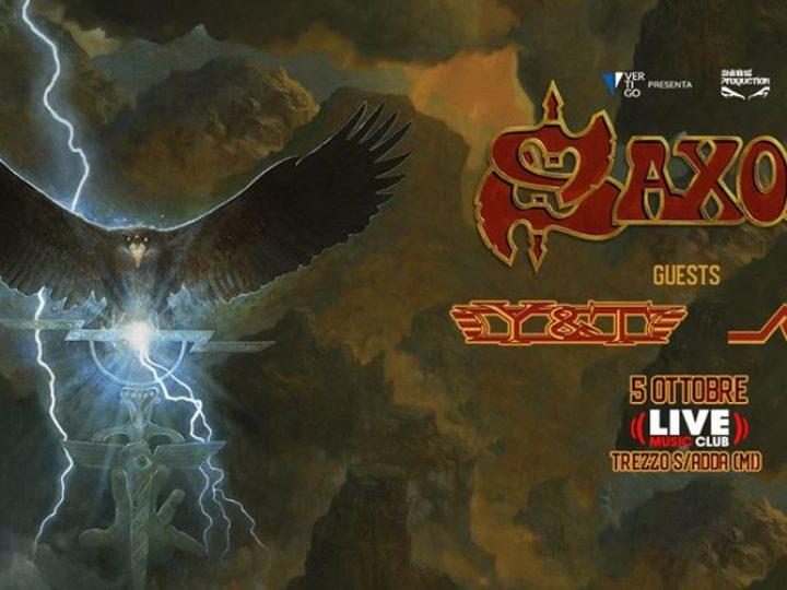 Saxon + Y&T + Raven@Live Music Club, Trezzo sull'Adda (MI)