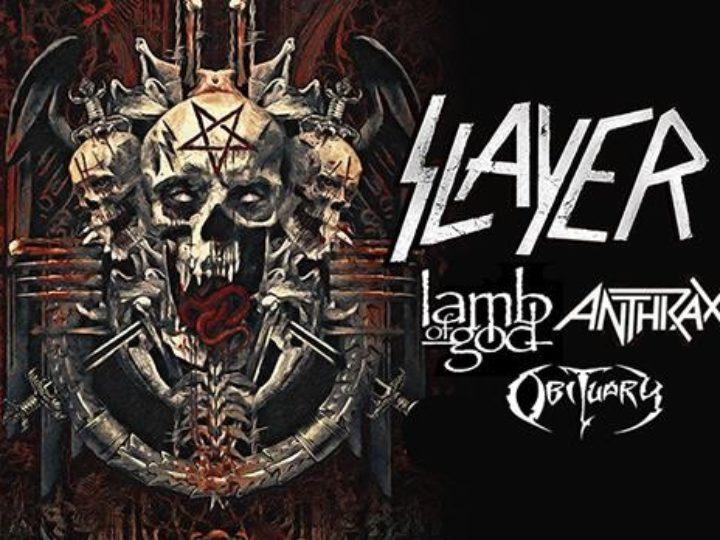 Slayer + Lamb of God + Anthrax + Obituary@Mediolanum Forum Assago, Milano