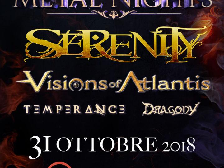 Symphonic Metal Nights IV con Serenity + Visions of Atlantis + Dragony + Temperance@Arci Tom, Mantova