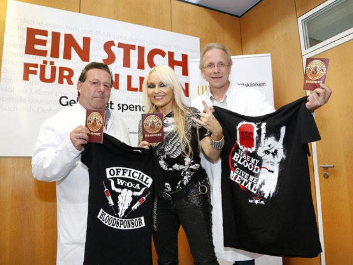 Doro, supporta la campagna di donazione di sangue sponsorizzata da Wacken