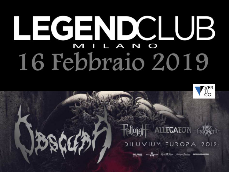 Obscura +  Fallujah + Allegaon + First Fragment live @ Legend Club Milano