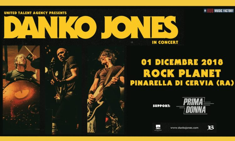Contest, vinci biglietti per Danko Jones al Rock Planet di Cervia