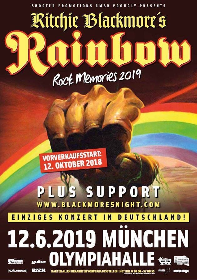 RITCHIE BLACKMORE'S RAINBOW @ Munich, Olympiahalle , 12 giugno 2019