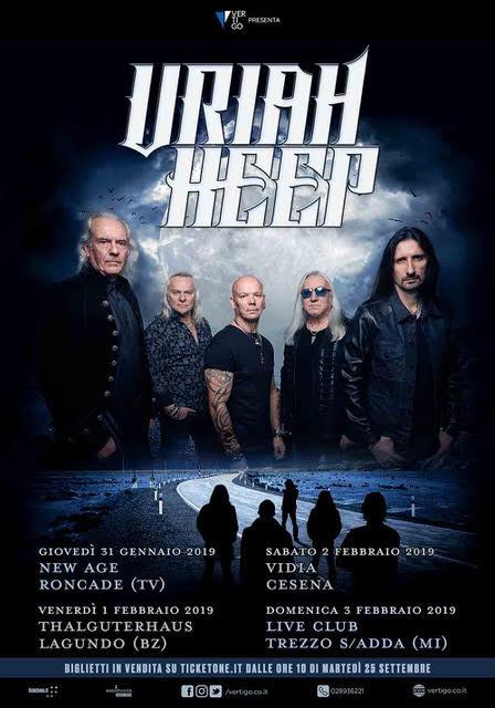URIAH HEEP @ Live Club – Trezzo Sull'Adda ( MI )