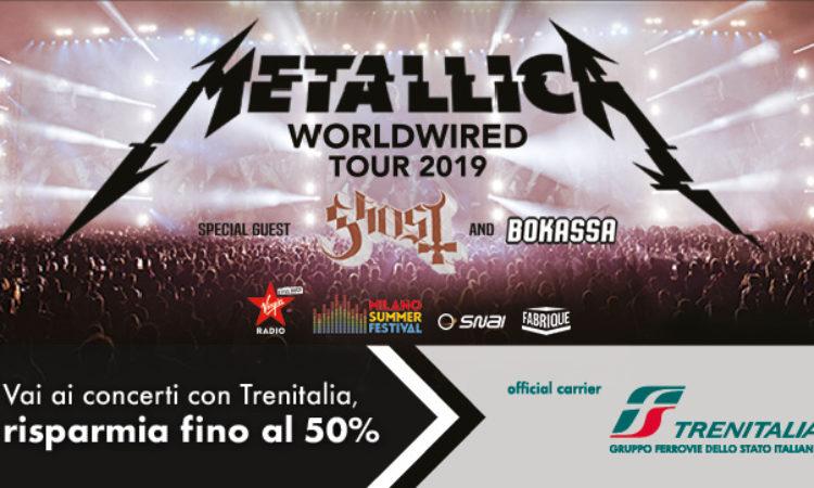 Metallica, offerta per raggiungere il concerto in treno