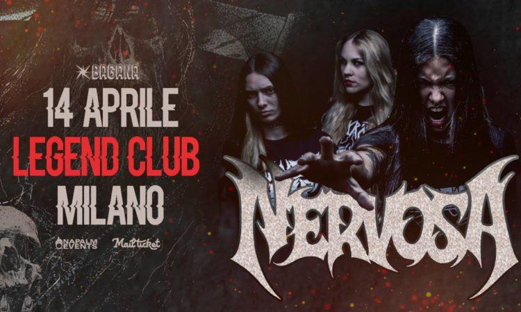 Nervosa, vinci biglietti per le date di Milano e Roma