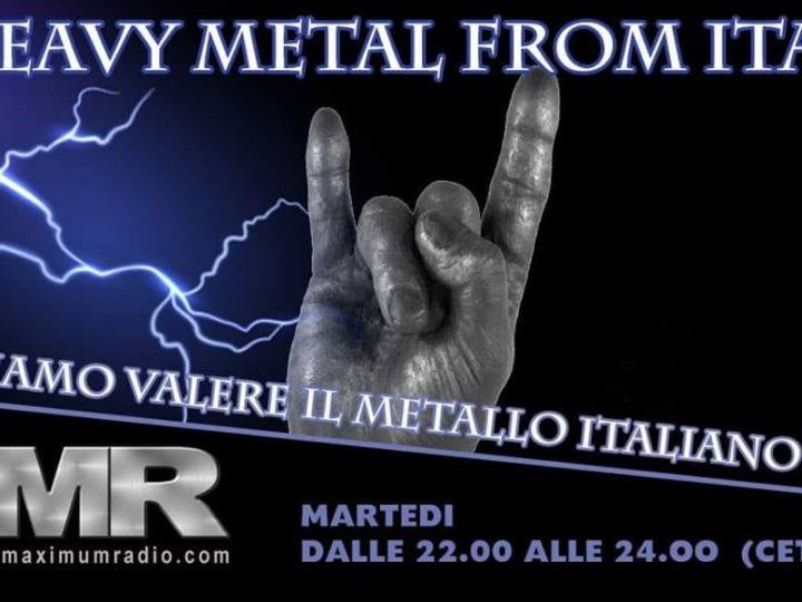 Radio FVIMI – la voce di Facciamo Valere il Metallo Italiano, il programma della puntata di Martedì 26 novembre