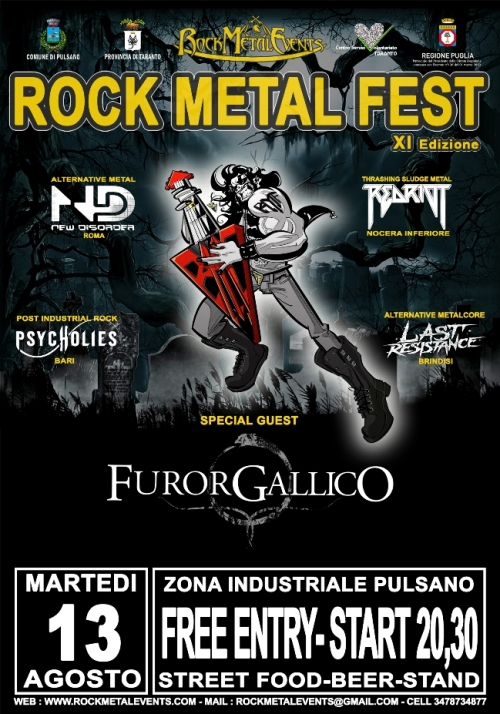 Rock Metal Fest 2019: Furor Gallico e altri live @ Zona Industriale, Pulsano (Taranto)