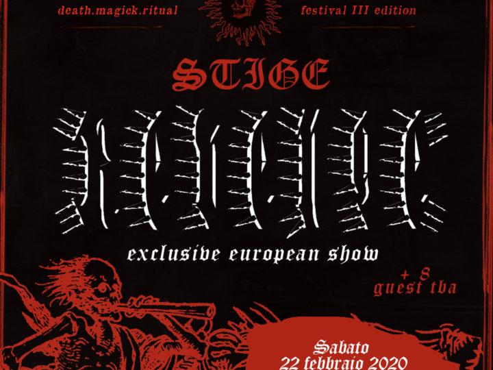 Stige Fest III, headliner i Revenge per l'unica data esclusiva europea