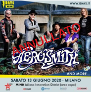 AEROSMITH @ Mind Milano Innovation Disctrict – Milano, 13 giugno 2020