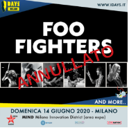 Foo Fighters @Area Expo – Milano, 14 giugno 2020