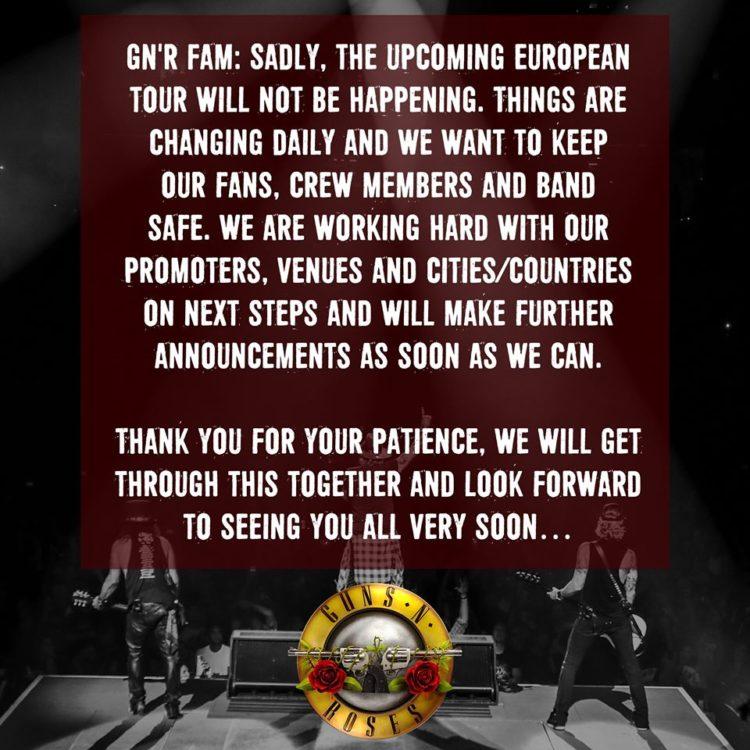 Guns N' Roses @Firenze Rocks – Arena Visarno , 12 giugno 2020