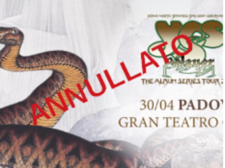 YES @ Gran Teatro Geox -Padova , 30 aprile 2020