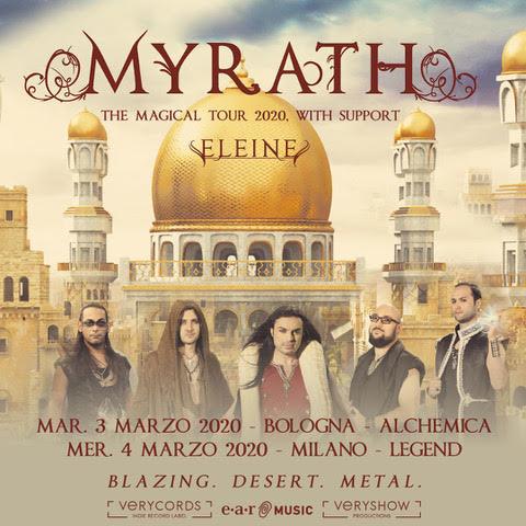 MYRATH @ Alchemica – Bologna , 3 marzo 2020
