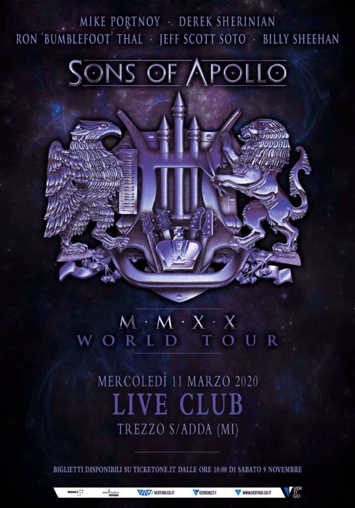 SONS OF APOLLO @ Live Club -Trezzo sull'Adda ( Mi), 11 marzo 2020