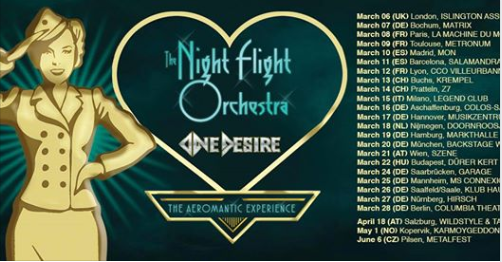 The Night Flight Orchestra + One Desire @ Legend Club – Milano, 15 marzo 2020