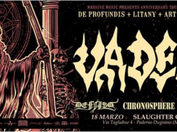 Vader (Anniversary Tour) + Defiled + Chronosphere + Fallcie @Slaugther Club, Paderno Dugnano (Mi), 18 marzo 2020