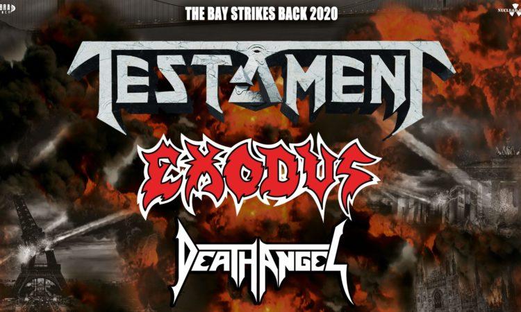 The Bay Strikes Back Tour, cancellato il concerto di Testament, Exodus e Death Angel al Live di Trezzo