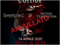 Evanescence + Within Temptation @ Mediolanum forum – Assago (Mi), 14 aprile 2020