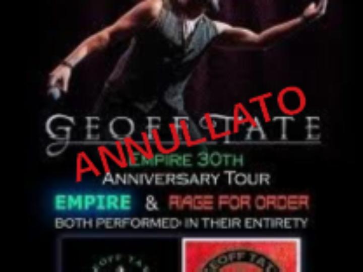 Geoff Tate @Traffic Live Club – Roma, 02 aprile 2020