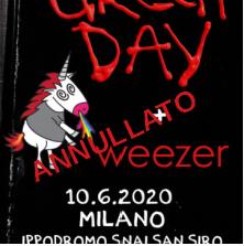 Green Day + Weezer @Ippodromo Snai San Siro – Milano, 10 giugno 2020