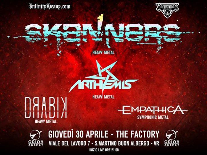 Skanners @The Factory – San Martino Buon Albergo (Vr), 30 aprile 2020