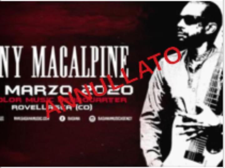 Tony MacAlpine @Dedolor Music Headquarter – Rovellasca (CO), 30 marzo 2020