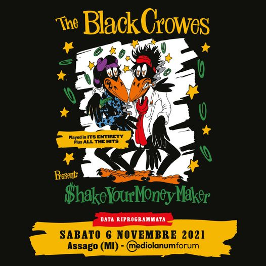 The Black Crowes @Mediolanum Forum – Assago (Mi), 06 novembre 2021