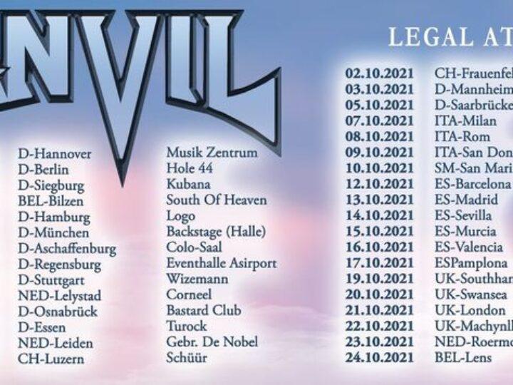 Anvil + guest @Legend Club – Milano, 07 ottobre 2021