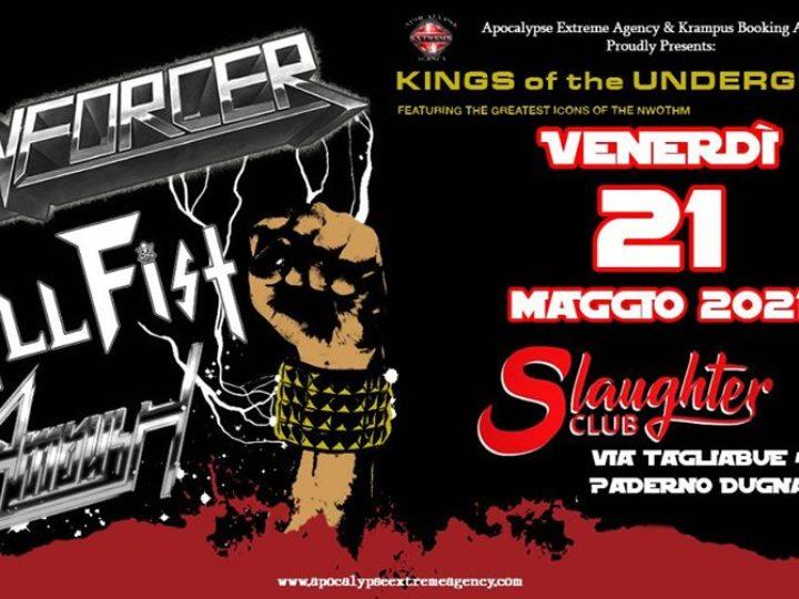 Enforcer, Skull Fist, Ambush @Slaughter Club – Paderno Dugnano (Mi), 21 maggio 2021