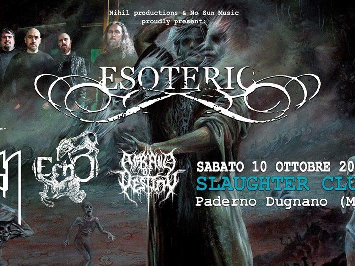 Esoteric @Slaughter Club – Paderno Dugnano (Mi), 10 ottobre 2020
