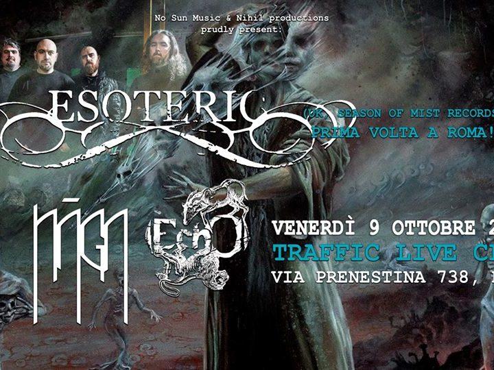 Esoteric + guest @Traffic Live – Roma, 09 ottobre 2020