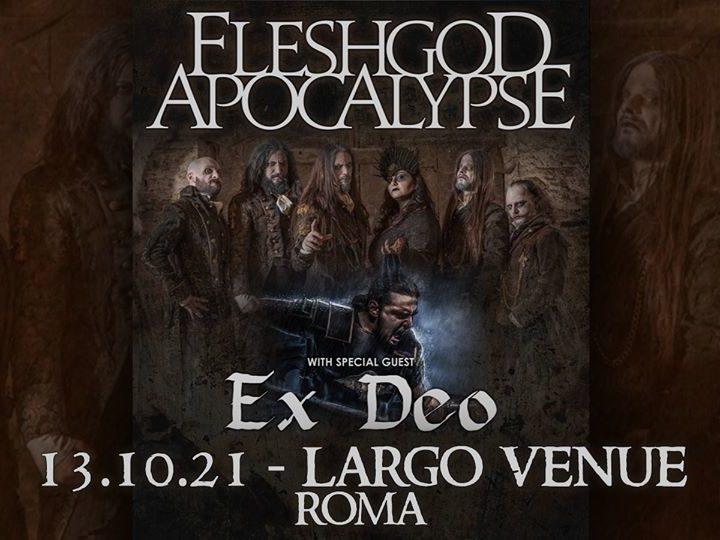 Fleshgod Apocalypse + Ex Deo @Largo Venue – Roma, 13 ottobre 2021
