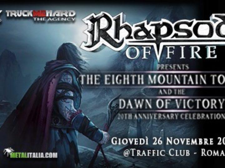 Rhapsody of Fire @Traffic Live Club – Roma, 26 novembre 2020