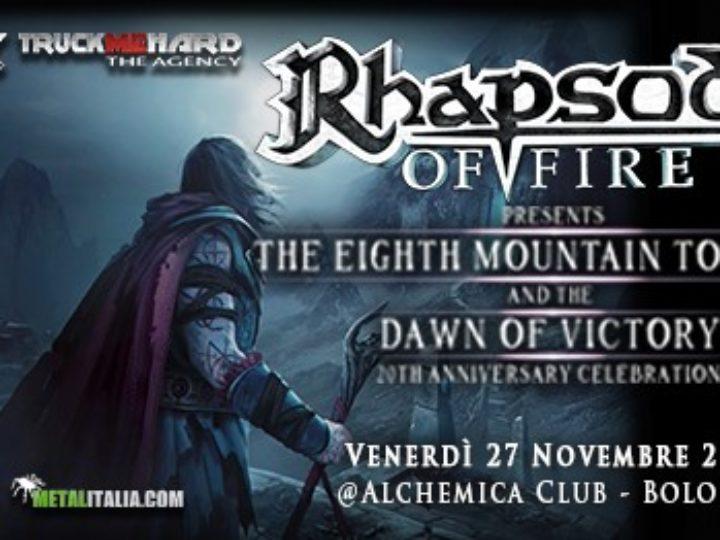 Rhapsody of Fire @Alchemica Club – Bologna, 27 novembre 2020