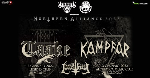 Taake, Kampfar, Necrowretch @Alchemica Club – Bologna, 13 gennaio 2022