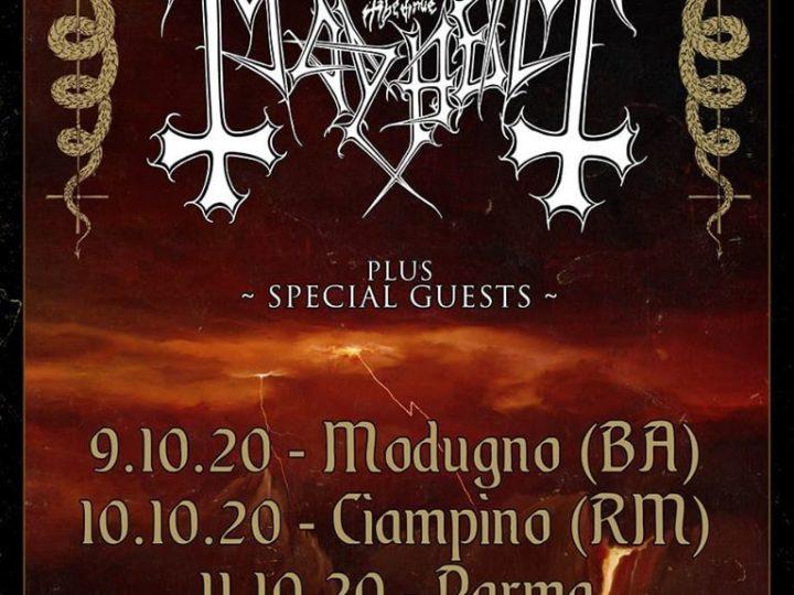 Mayhem @Demodè Club – Modugno (Ba), 09 ottobre 2020