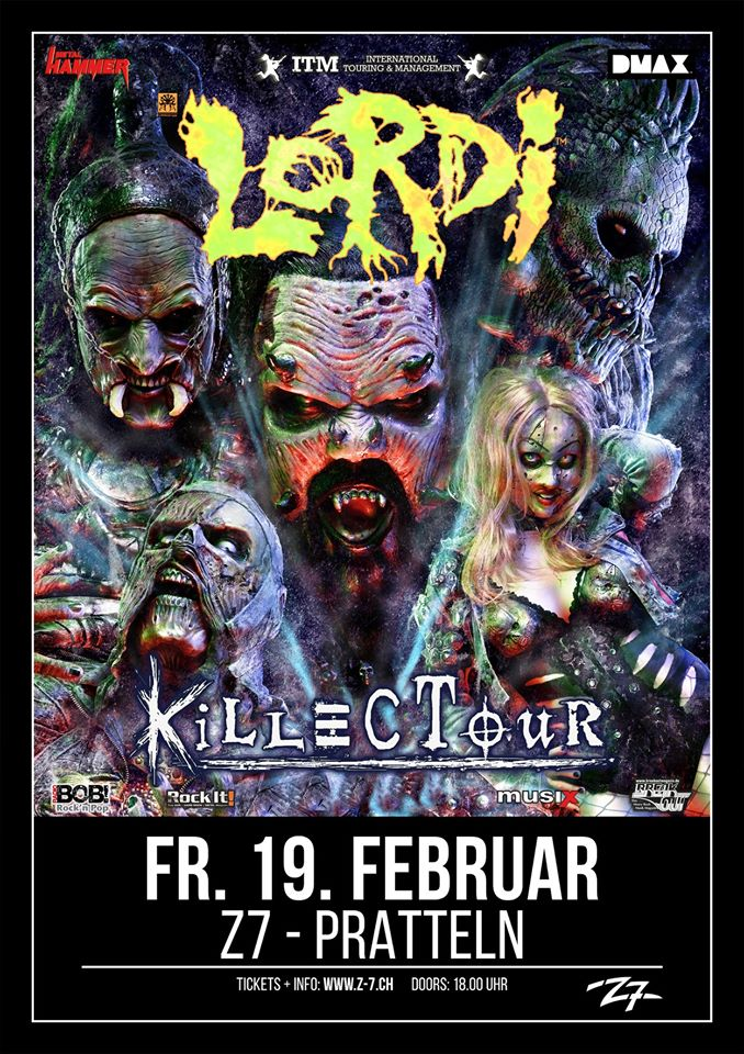 Lordi @Z7 – Pratteln (Svizzera), 19 febbraio 2021