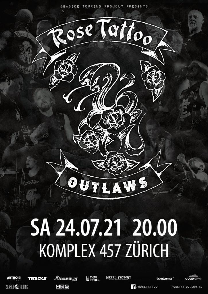 Rose Tattoo @Komplex 457 – Zurigo (Svizzera), 24 luglio 2021