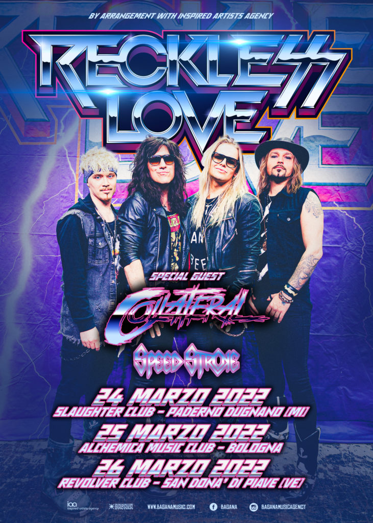 Reckless Love @Revolver – San Donà di Piave (Ve), 26 marzo 2022